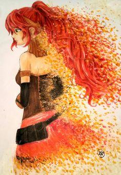 """Destiny"" by Ally Wainwright - Pyrrha Nikos RWBY fan art"
