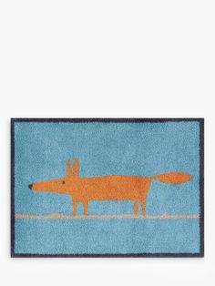 Buy Blue Turtle Mat Scion Mr Fox Door Mat, Blue from our Doormats range at John Lewis & Partners. Scion Mr Fox, Woodland House, Collection Services, Hard Floor, Christmas Shopping, Interior Inspiration, Squirrel, Turtle, Kids Rugs