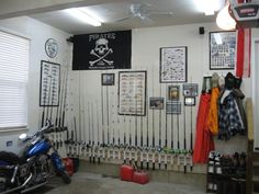 Ideas For A Wall Mounted Fishing Rod Reel Holder The Hull Truth Boating And Forum