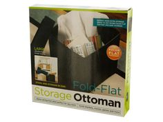 "Fold-Flat Storage Ottoman, 2 - Add storage space and a foot stool to any room with this convenient Fold-Flat Storage Ottoman featuring a large inner compartment to store items such as remote controls, magazines and small blankets. Great for keeping video games, controllers and more out of sight. Stylish square design looks great in your home or office and compliments any decor. Removable top reveals spacious interior storage measuring approximately 12"" x 12"". Pop-up design folds down to 3…"