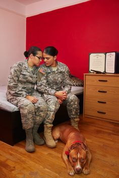 9 Portraits Of Gay Military Members Who Serve In Silence Under DOMA: Idalia and Angelie.