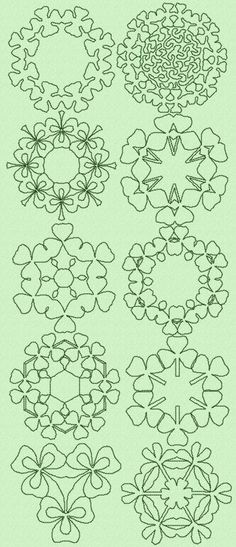 Advanced Embroidery Designs - Shamrock Quilt Set