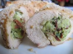 avocado and bacon stuffed chicken