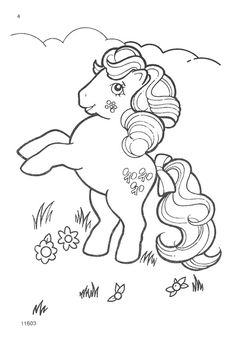 My Little Pony G1 Coloring Pages Pony Digi stamps and Stamps