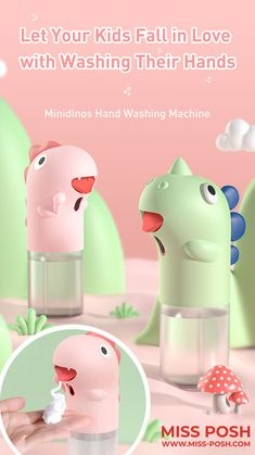 Hand Washing Machine, Thing 1, Cute Dinosaur, Hand Lotion, Liquid Soap, Hand Sanitizer, Save Energy, Soap Dispenser
