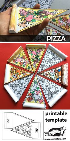 Pizza - origami Pizza - lessons Origami PizzaPizza - origami Pizza - lessons Origami PizzaProcess art for preschoolers: painting with yarnProcess art for preschoolers: painting with yarnCheap school holiday crafts - budget mumCheap school holiday Art For Kids, Crafts For Kids, Arts And Crafts, Paper Crafts, Pizza Kunst, Pizza Craft, Halloween Infantil, Summer Crafts, Elementary Art