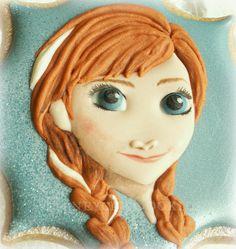 Decorated cookie portrait