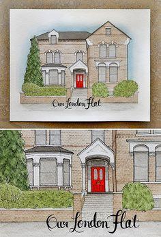 "Custom 8"" x 10"" House Portrait"