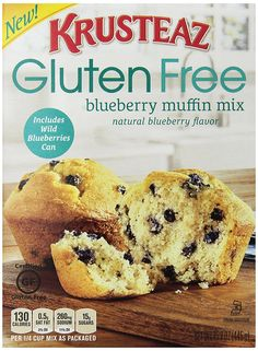 Krusteaz Gluten Free Blueberry Muffin Mix, 15.7-Ounce Box -- Read more  at the image link.