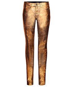 Goldig! Spätestens mit der Super Skinny von J Brand wird Weihnachten auch 2012 golden. #skinny #golden #jbrand