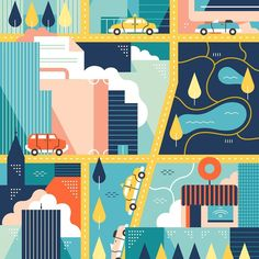 #tbt #throwbackthursday #map #city #cities #business #urban #closeup #editorial #vector #illustration by vesasammalisto