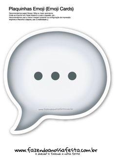 Plaquinhas Emoji Whatsapp Balão fala