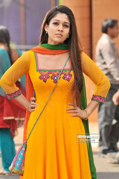 Gorgeous Nayanthara Beauty she is Salwar Designs, Saree Blouse Designs, Indian Dresses, Indian Outfits, Indian Bridal Photos, Salwar Pattern, Simple Dress Pattern, Long Gown Dress, Modern Saree