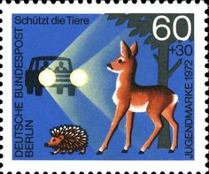 Art - Stamp - German - Safe driving 1973
