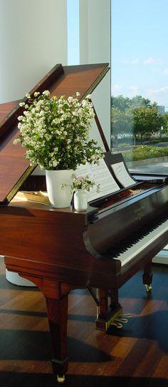 Adam Rolston, Gabriel Benroth, Drew Stuart, NYC, New York, piano, flowers, wood, floor, window, view, grand