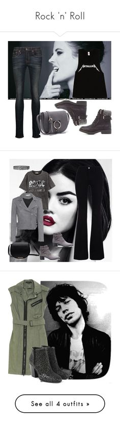 """""""Rock 'n' Roll"""" by arara-sustentavel ❤ liked on Polyvore featuring Charlotte Russe, R13, STELLA McCARTNEY, Lime Crime, H&M, IRO, Yves Saint Laurent, Faith Connexion, Alexander Wang and Giuseppe Zanotti"""