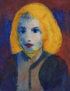 Nolde, Emil Mädchenkopf, 1925.