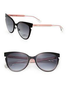 Fendi - 52MM Notched Cat's-Eye Metal Sunglasses