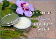 This homemade hair cream is a nourishing styling product that can add shine, tame fly-aways, smooth curls, eliminate frizz, and replace moisture from heat styling.