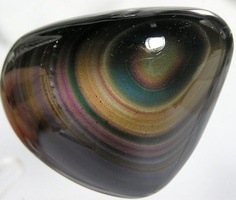 Rainbow Sheen Obsidian Polished Palm stone by FenderMinerals,
