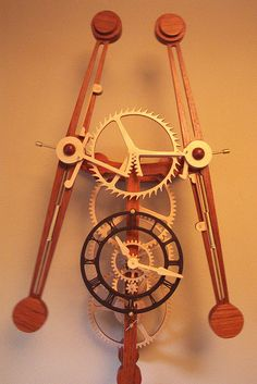 Sextus 2 | This clock is made from Jatoba (Brazilian Cherry)… | Flickr