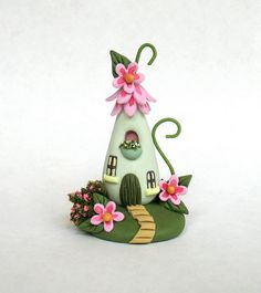 Miniature Whimsical Fairy Blossom House OOAK by C. Rohal