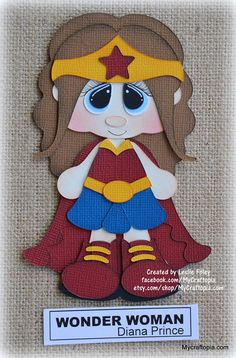 Mujer de maravilla Super héroe chica Premade Scrapbooking