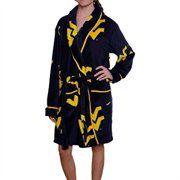 West Virginia Mountaineers Ladies Navy Blue Logo Cozy Robe