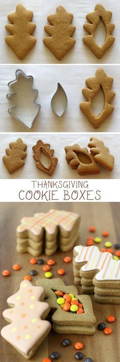 Thanksgiving Cookie Boxes - Such a cute and creative idea!