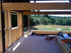 september 2010 - the view syraigt through the tobacco barn