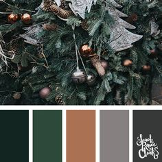 Christmas colors are more than just red and green. These color palettes and color schemes will inspire you to find new colors for your Christmas crafts! Christmas Tree Colour Scheme, Christmas Palette, Colorful Christmas Tree, Xmas Colors, Colour Pallette, Color Combos, Winter Colour Palette, Green Color Schemes, Stoff Design