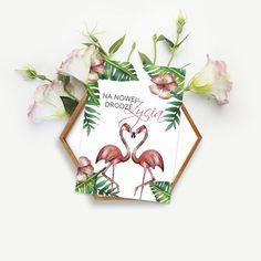 Flamingi / Ślub / Wedding card / Wedding gift / Flamingos