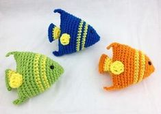 Little Fishies Crochet Pattern – Little Giggles Adventures It's almost summer ya'll! That means beach days, lake trips, and pool parties! Inspired by my daughters by the sea pool party, I created these cute little crochet fish (they will… Crochet Puff Flower, Cute Crochet, Crochet Crafts, Crochet Flowers, Crochet Projects, Crochet Baby, Crochet Amigurumi, Amigurumi Patterns, Crochet Dolls