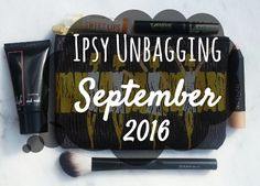 #ipsy #septemberglambag unbagging/review is up on my #blog! Go check it out to see what I got and a short review over each item. This month's winners are the #crownbrush, #tarte tarteist #mascara, and #honeyorganic #lipbalm!