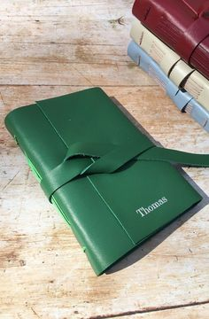 Excited to share the latest addition to my shop: personalised red leather travel journal, leather notebook, anniversary gift, green leather Leather Travel Journal, Leather Notebook, Travel Journals, New Baby Gifts, Gifts For Dad, Baby Presents, 3rd Anniversary Gifts, Pouch Pattern, Green Gifts