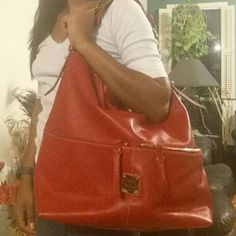 Very large dooney & Bourke bag Huge bag with double pockets minimal wear no stains,  clean inside Dooney & Bourke Bags Shoulder Bags