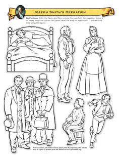 Lesson 4 Joseph Smith And Family Cutout Figures