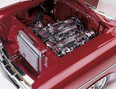 0602sc_04_z 1957_chevy_bel_air Engine