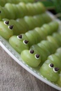 Grape Kabob Caterpillars -healthy and fun snack for kids
