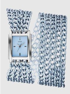 Women's #Fashion #Watches Guess Womens Silver Dial Stainless Steel Case Multi Chain Link Bracelet #Watch Watch Diy, Swiss Army Watches, Expensive Watches, Fashion Watches, Women's Fashion, Beautiful Watches, I Love Jewelry, Luxury Jewelry, Stainless Steel Case