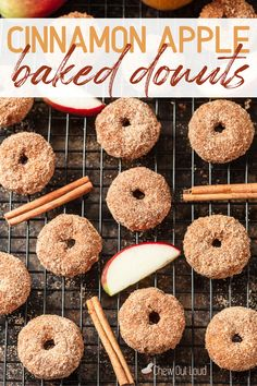 These Cinnamon Apple Baked Donuts are bursting with all the season's goodness. Apple Baked Donuts are loaded with fall flavors and melt-in-your-mouth tenderness. #cinnamon #apple #bakeddonuts #donuts #cinnamonapple #cinnamondappledonuts #donutrecipes #doughnut #fallrecipes