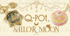 Q-pot. will be collaborating with Sailor Moon on a series of accessories! Q-pot focuses on super cute jewelry and accessories that look like dessert!