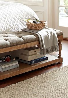 beautiful upholstered storage bench  http://rstyle.me/n/qd39npdpe