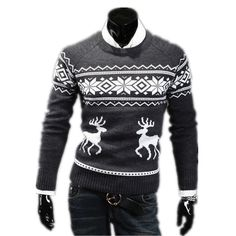 >> Click to Buy << 2017 Top quality Autumn Winter Slim Round Neck mens sweaters Stylish Trendy sweater The deer pattern Pullover Sweater #Affiliate