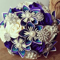 centerpieces with paper flowers - Google Search