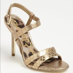 Sam Edelman Abbott Sandal Sam Edelman Abbott sandal in gold. Size 7.5. I love these shoes! Trying to clean out my closet. These look great. The bottoms are a little scuffed. Sam Edelman Shoes Heels
