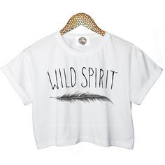 wild spirit FEATHER crop T SHIRT top free cute retro hipster swag dope... ($30) ❤ liked on Polyvore featuring tops, t-shirts, shirts, crop tops, crop top, print t shirts, white crop top, bear t shirt and punk rock t shirts