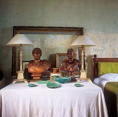 Bedroom. Irene Silvagni's Provence home via NYTimes.com, Joanna Maclennan/Living Inside.