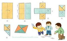 Ddakji (딱지) is a popular Korean game. It is played with a folded piece of paper. The goal is to flip over another piece of paper on the ground by throwing your ddakji upon the one on the ground.In the basic version of the game the throwing player is chosen by 'Rock, Paper, Scissors' and the losing player places their ddakji on the table. The throwing player throws their ddakji down on it in an attempt to make it flip over. The modern ddakjis are decorated with pictures of charac...
