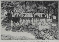 Picnic party, Papaloloa Falls, Apia, Samoa, 1899 Letogo Road, Apia, Samoa 21 July 1899